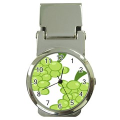 Fruit Green Grape Money Clip Watches by Mariart