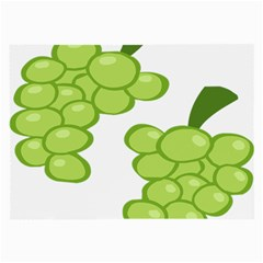 Fruit Green Grape Large Glasses Cloth (2 Side) by Mariart