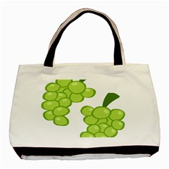 Fruit Green Grape Basic Tote Bag (two Sides) by Mariart