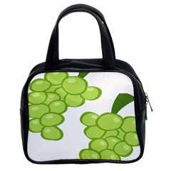 Fruit Green Grape Classic Handbags (2 Sides) by Mariart