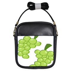 Fruit Green Grape Girls Sling Bags