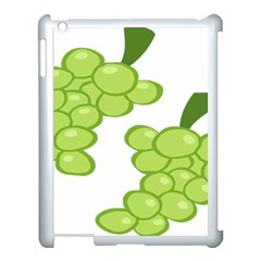 Fruit Green Grape Apple Ipad 3/4 Case (white) by Mariart