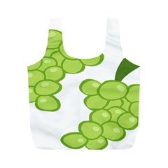 Fruit Green Grape Full Print Recycle Bags (m)  by Mariart