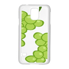Fruit Green Grape Samsung Galaxy S5 Case (white) by Mariart