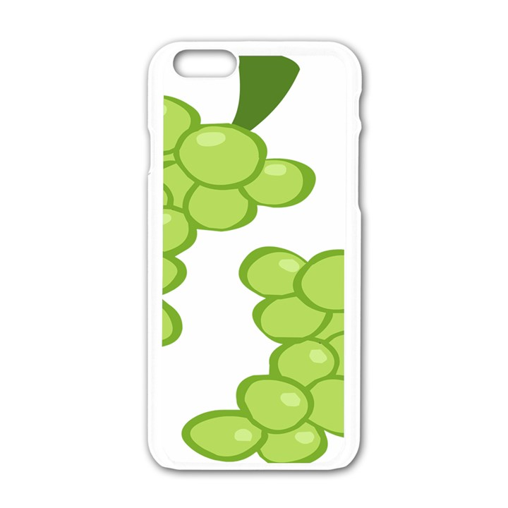 Fruit Green Grape Apple iPhone 6/6S White Enamel Case