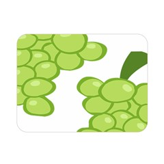 Fruit Green Grape Double Sided Flano Blanket (mini)  by Mariart