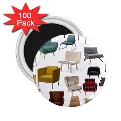 Furnitur Chair 2 25  Magnets (100 Pack)  by Mariart