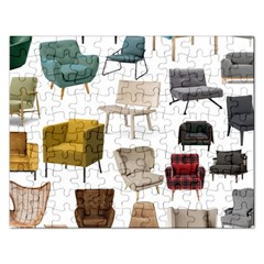 Furnitur Chair Rectangular Jigsaw Puzzl by Mariart