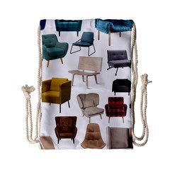Furnitur Chair Drawstring Bag (small) by Mariart