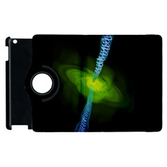 Gas Yellow Falling Into Black Hole Apple Ipad 3/4 Flip 360 Case by Mariart