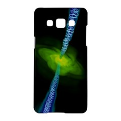 Gas Yellow Falling Into Black Hole Samsung Galaxy A5 Hardshell Case  by Mariart