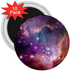 Galaxy Space Star Light Purple 3  Magnets (10 Pack)  by Mariart