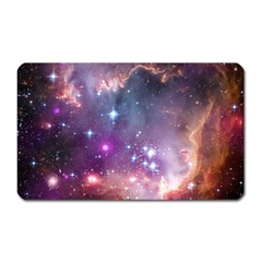Galaxy Space Star Light Purple Magnet (rectangular) by Mariart