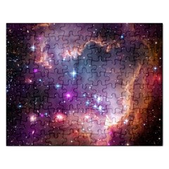Galaxy Space Star Light Purple Rectangular Jigsaw Puzzl by Mariart