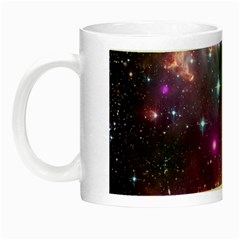 Galaxy Space Star Light Purple Night Luminous Mugs by Mariart