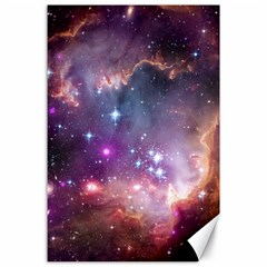 Galaxy Space Star Light Purple Canvas 24  X 36  by Mariart