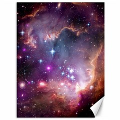 Galaxy Space Star Light Purple Canvas 36  X 48   by Mariart