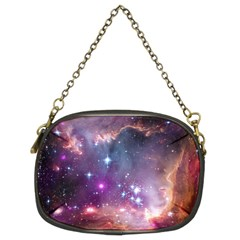 Galaxy Space Star Light Purple Chain Purses (two Sides)  by Mariart