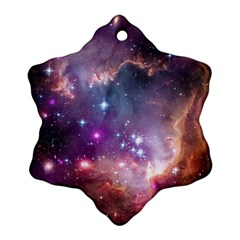 Galaxy Space Star Light Purple Ornament (snowflake) by Mariart