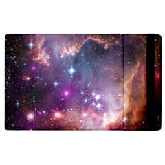 Galaxy Space Star Light Purple Apple Ipad 2 Flip Case by Mariart