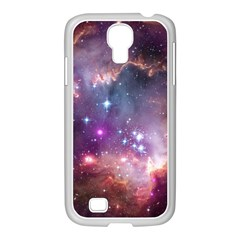 Galaxy Space Star Light Purple Samsung Galaxy S4 I9500/ I9505 Case (white) by Mariart