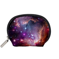 Galaxy Space Star Light Purple Accessory Pouches (small)  by Mariart