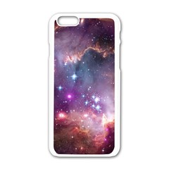 Galaxy Space Star Light Purple Apple Iphone 6/6s White Enamel Case by Mariart