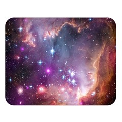 Galaxy Space Star Light Purple Double Sided Flano Blanket (large)  by Mariart
