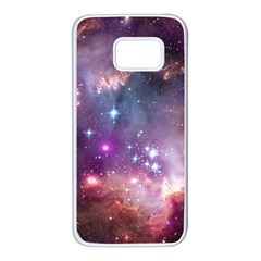 Galaxy Space Star Light Purple Samsung Galaxy S7 White Seamless Case by Mariart