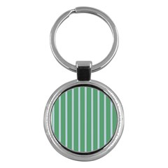 Green Line Vertical Key Chains (round)  by Mariart