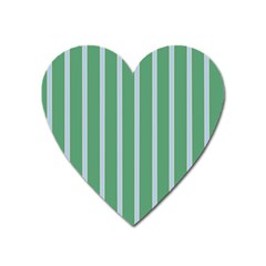 Green Line Vertical Heart Magnet by Mariart