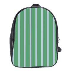 Green Line Vertical School Bag (large)