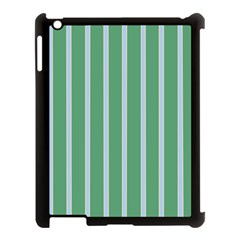 Green Line Vertical Apple Ipad 3/4 Case (black) by Mariart
