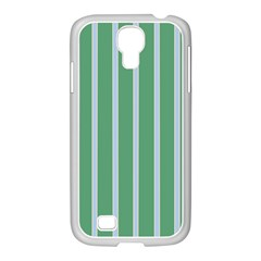 Green Line Vertical Samsung Galaxy S4 I9500/ I9505 Case (white)