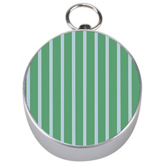 Green Line Vertical Silver Compasses by Mariart