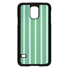 Green Line Vertical Samsung Galaxy S5 Case (black) by Mariart