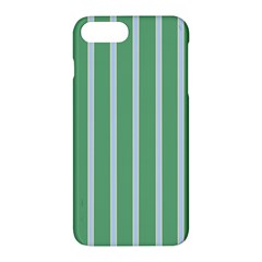 Green Line Vertical Apple Iphone 7 Plus Hardshell Case by Mariart