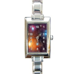 Galaxy Space Star Light Rectangle Italian Charm Watch