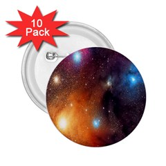 Galaxy Space Star Light 2 25  Buttons (10 Pack)  by Mariart