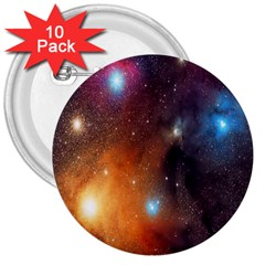 Galaxy Space Star Light 3  Buttons (10 Pack)