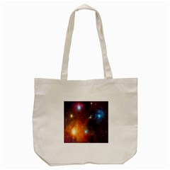 Galaxy Space Star Light Tote Bag (cream)