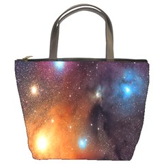 Galaxy Space Star Light Bucket Bags by Mariart