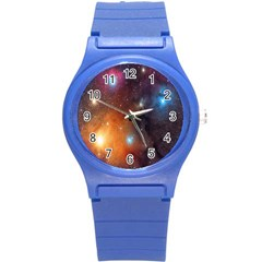 Galaxy Space Star Light Round Plastic Sport Watch (s) by Mariart