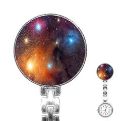 Galaxy Space Star Light Stainless Steel Nurses Watch