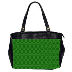 Green Seed Polka Office Handbags (2 Sides)  by Mariart