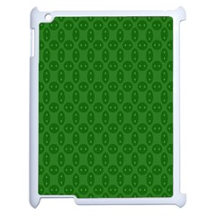 Green Seed Polka Apple Ipad 2 Case (white) by Mariart