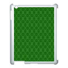Green Seed Polka Apple Ipad 3/4 Case (white) by Mariart