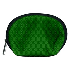 Green Seed Polka Accessory Pouches (medium)  by Mariart