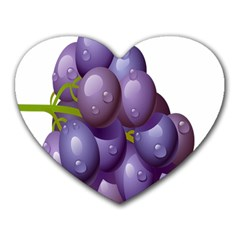 Grape Fruit Heart Mousepads by Mariart