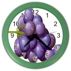 Grape Fruit Color Wall Clocks by Mariart